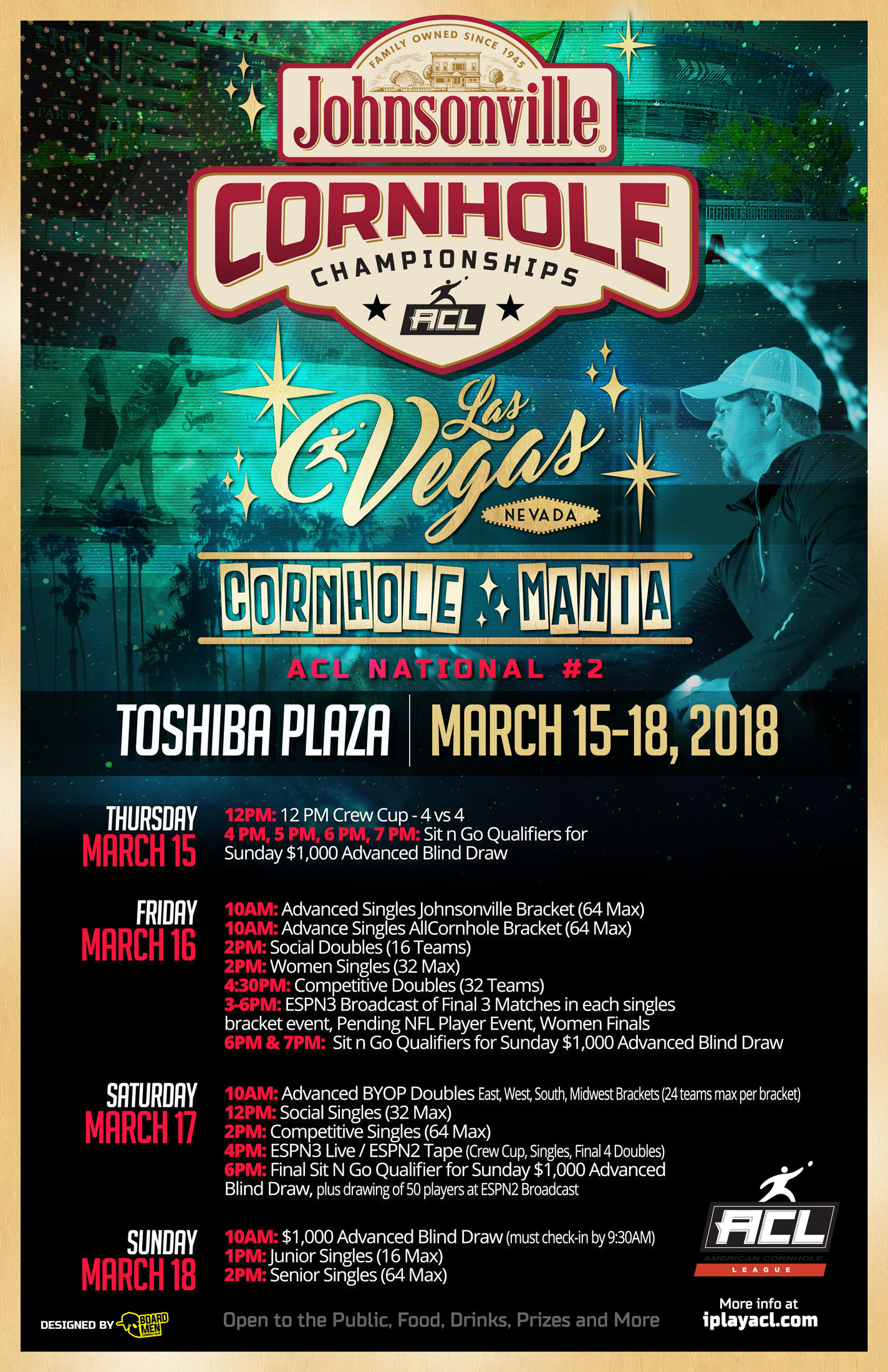WEB ACL Vegas Cornhole Mania March 2018